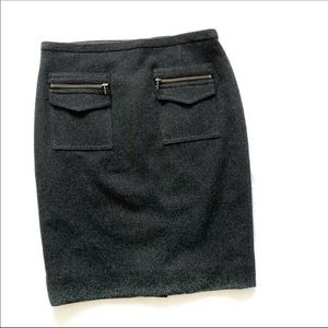 Charcoal Gray Pencil skirt by JCrew
